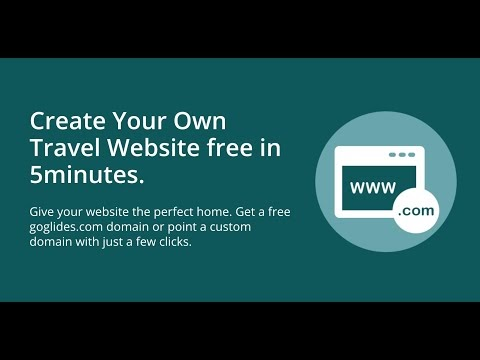 Create Travel website using goglides.com in 4 minutes