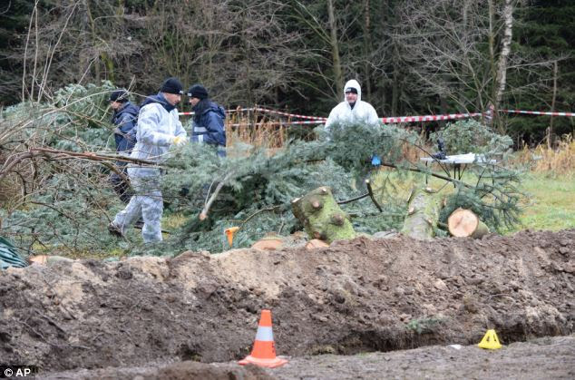 Police search around the property in eastern Germany and are investigating if any body parts were eaten