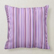 Small Purple Stripes throwpillow