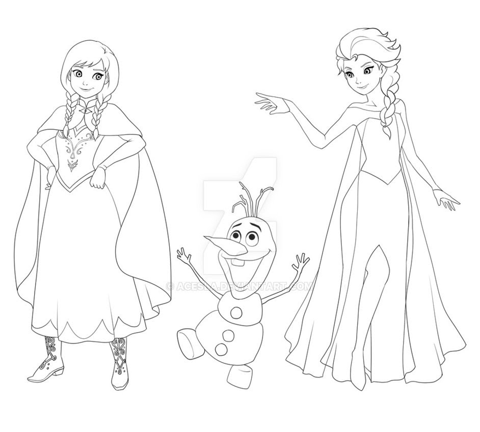 elsa and anna drawing at getdrawings com free for personal