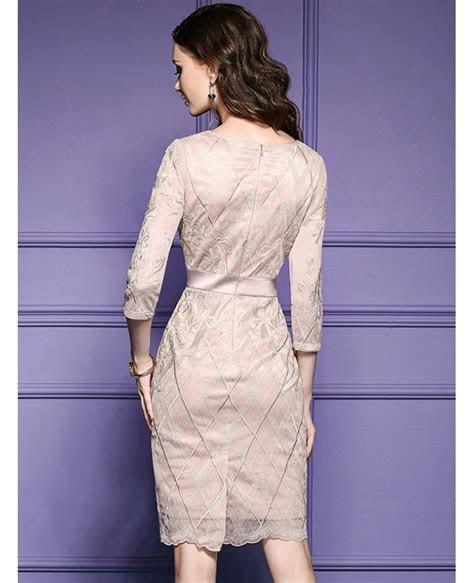 Luxe Black Lace Sleeve Short Wedding Guest Dress Black Tie