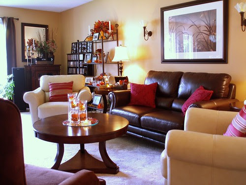 Living Room Shows Decoration Dining Delight Living Room Fall Decor 2011