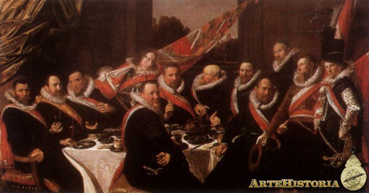 Banquete de oficiales de la Compañía de la guardia cívica de san Jorge - Pulsa para comprar lámina en ALLPOSTERS