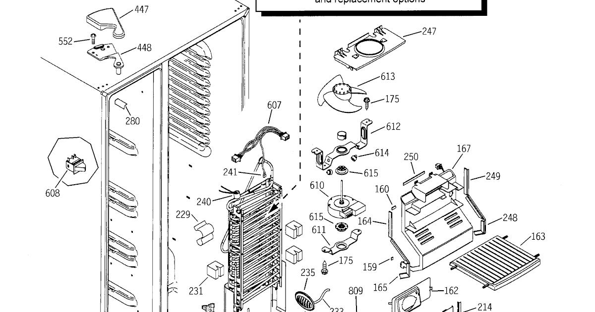 Ge Profile Refrigerator Parts Diagram