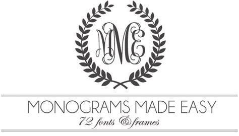 Monograms Made Easy: 72 Fonts & Frames   Damask Love