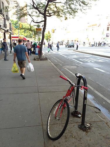 Old style bike rack, NYC