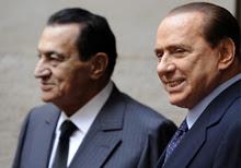 Berlusconi e Mubarak