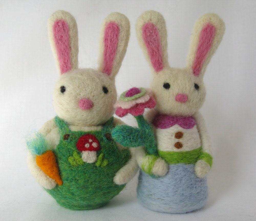 Needle Felt Bunny  Rabbit - Waldorf Spring Decoration