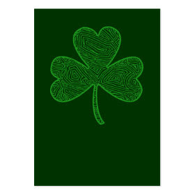 Shamrock St. Patrick's Day profilecard