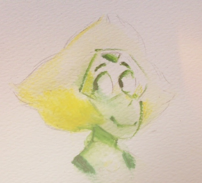 trying to figure out watercolors!