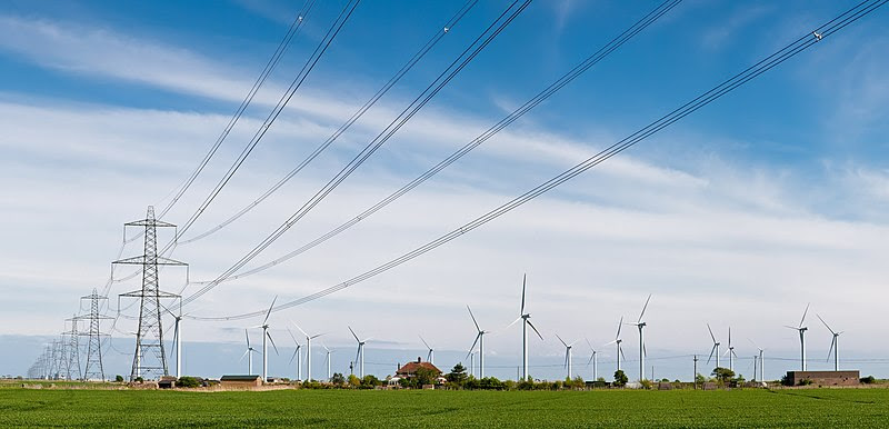File:Wind Turbines and Power Lines, East Sussex, England - April 2009.jpg