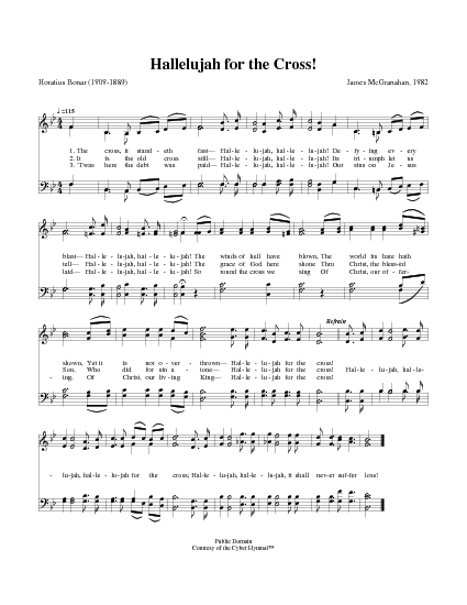 Hallelujah For The Cross Lyrics And Chords