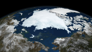 Image of Arctic sea ice on September 14 2008