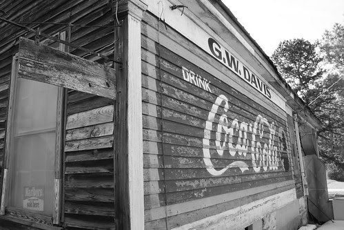 Former G.W. Davis General Store Coca-Cola Billboard - (Black and White)