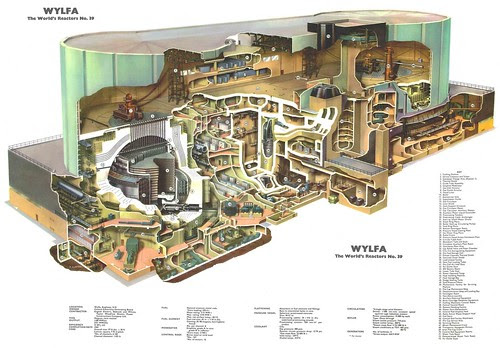 The World's Reactors, No. 39, Wylfa Magnox, Wylfa, Anglesey, UK. Wall chart insert, Nuclear Engineering, 1965