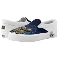Owl ZIPZ Slip On Sneakers, Printed Shoes