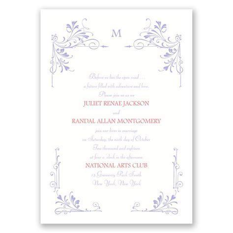 Fairytale Border Invitation   Ann's Bridal Bargains
