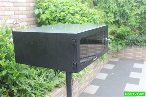 custom outdoor projector enclosure diy deertv pc