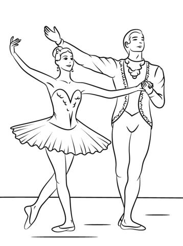 Disegno Di Balletto Della Bella Addormentata Da Colorare Disegni