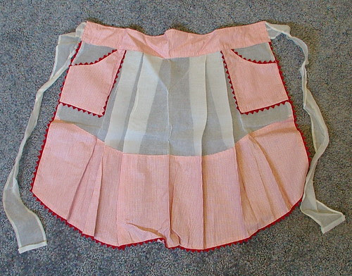 hostess half apron