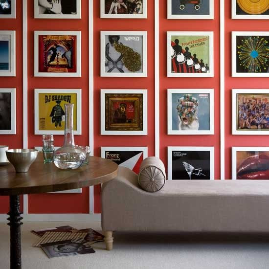 Gallery wall: album covers as art