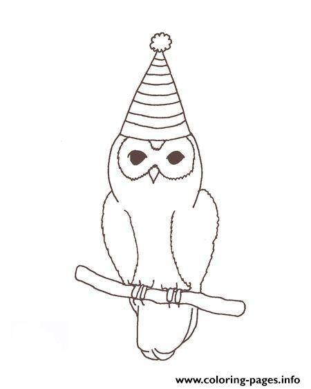 Birthday Owl Sd213 Coloring Pages Printable