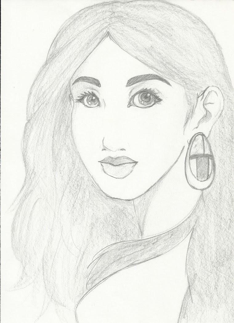760x1052 Beautiful Girl Sketch by cherstar90 on DeviantArt