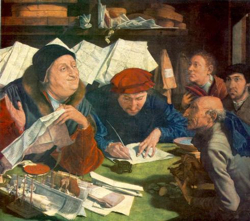 Recaudadores de tributos, Marinus Van Reymerswale (1490-1567)