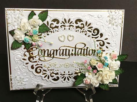 Wedding Card using Spellbinders dies and embossing folder