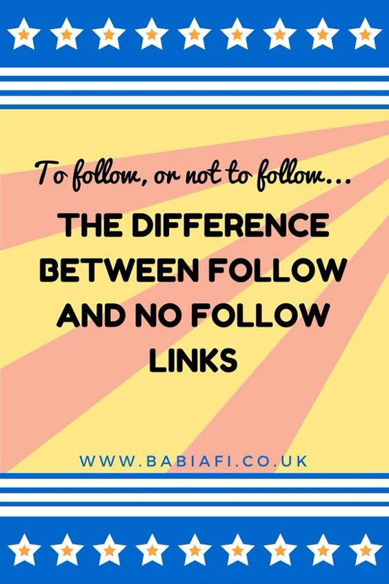 The difference between follow and no follow links