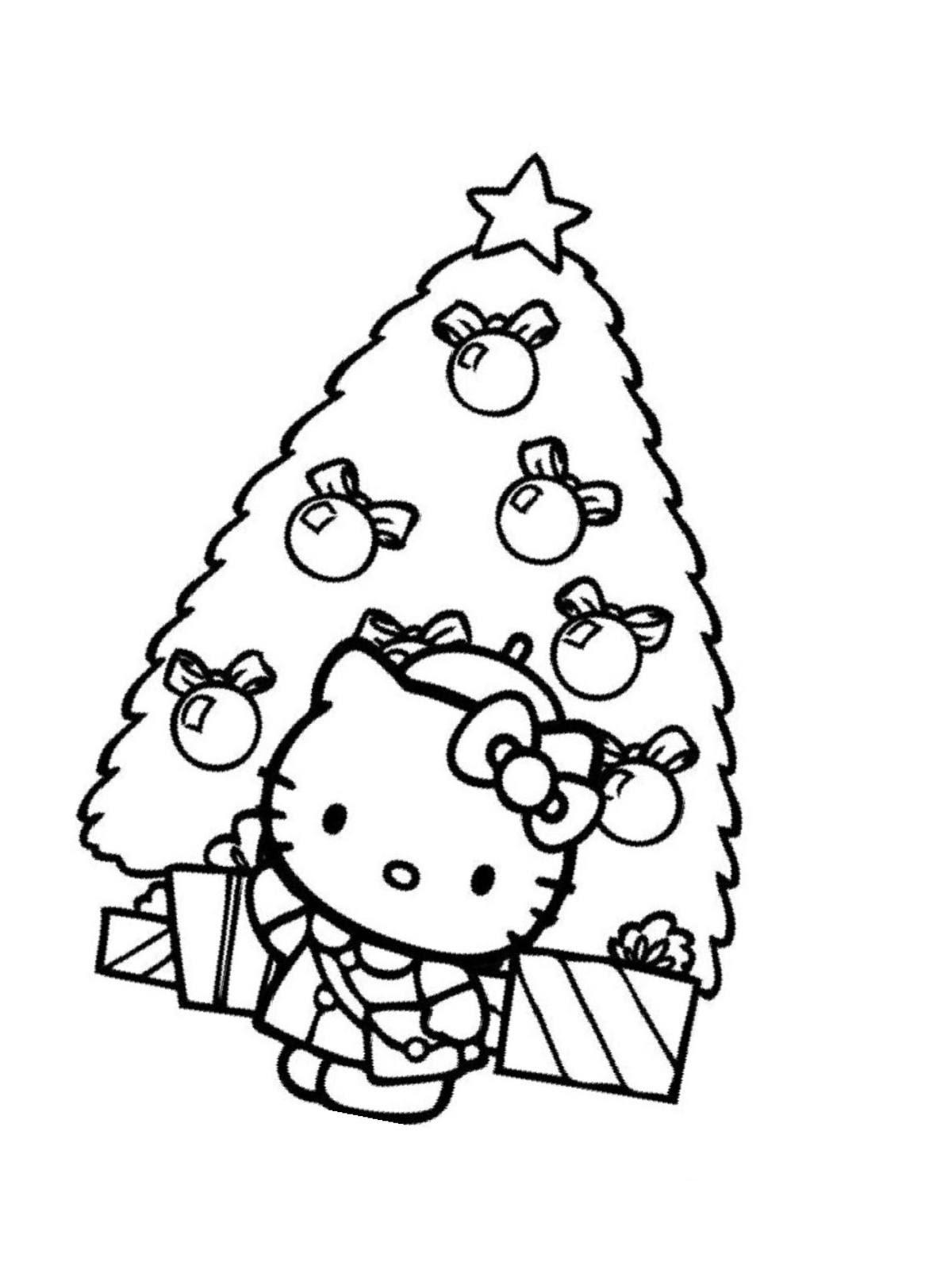 ausmalbilder weihnachten tannenbaum