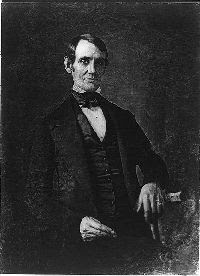 The first photograph ever taken of Abraham Lincoln, a daguerreotype by N.H. Shepherd, about 1846.