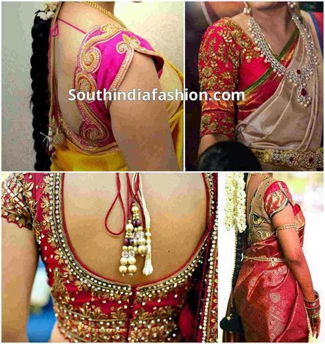 Blouse Designs for Wedding Sarees ?South India Fashion