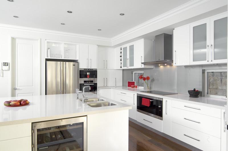 Glossy White Kitchen Design Trend - DigsDigs