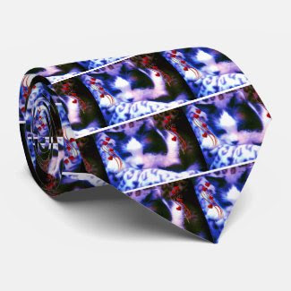 snowshoe Valentines I love you Kitty Tie