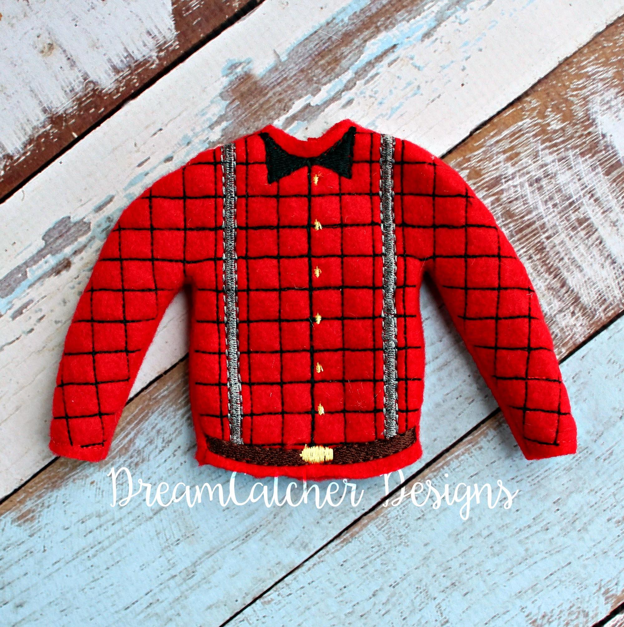 In The Hoop Lumberjack Holiday Sweater Elfdoll Christmas Embroidery