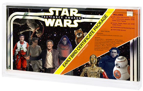 Star Wars The Force Awakens Early Bird Certificate Package