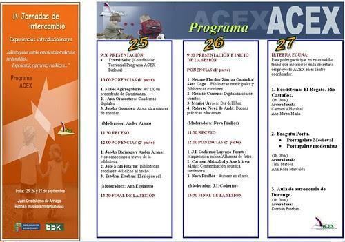 IV Jornadas de Intercambio ACEX