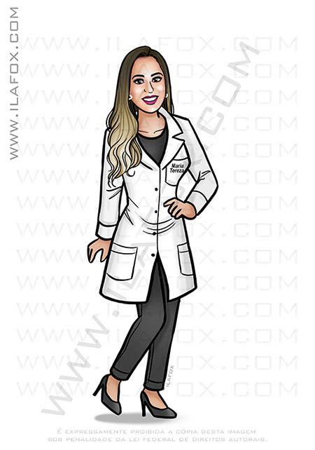 caricatura formanda, caricatura médica, caricatura formatura, caricatura profissional, caricatura digital, caricatura bonita, by ila fox