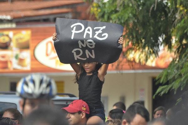 A concentração ocorreu na avenida Itapetinga, zona Norte de Natal