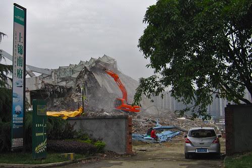 Construction, Pixian County, Sichuan