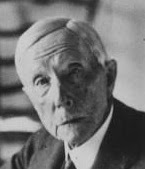 John                 Davison Rockefeller senior, boss of Standard Oil,                 portrait