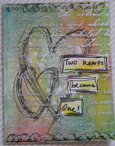 """""""Two Hearts"""" Project Life Card"""