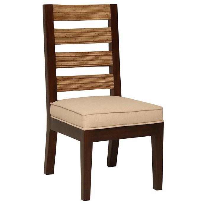 Park Avenue Dining Chair - Rattan Slats, Seat Cushion ...