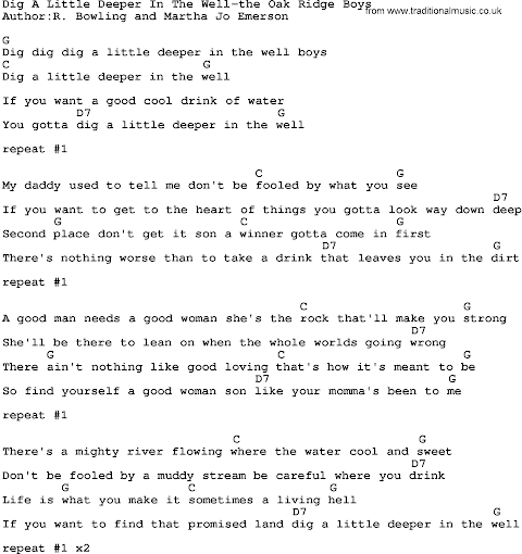 Dig A Little Deeper In The Well Lyrics