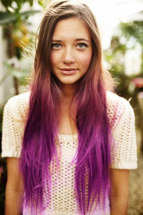 Blonde to Purple Ombre Hair for Long Hair - Hairstyles Weekly