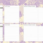 I love the blog tracking section. Each week there is space to track your progress, make to-do lists, jot down ideas and write notes!