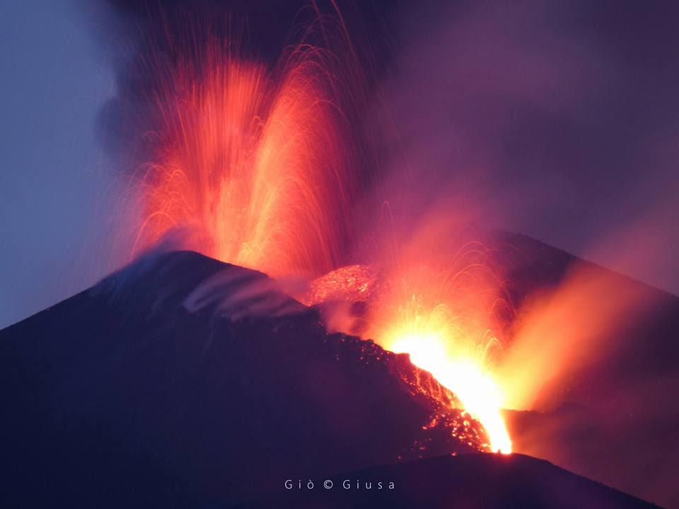 New Etna eruption on April 27 2017.