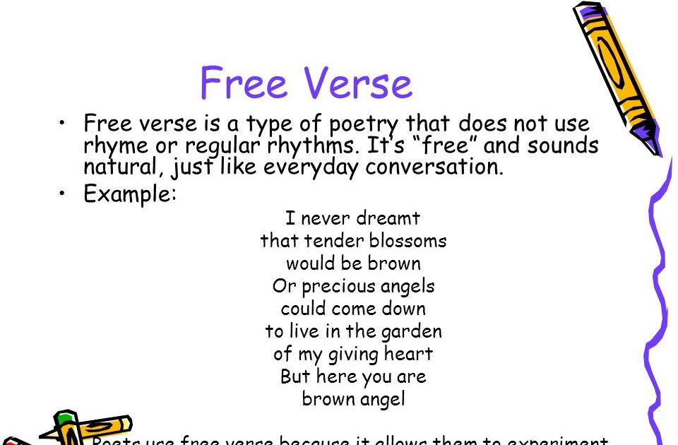 what is a free verse poem