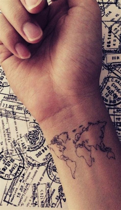 tiny tattoo idea cool map design born travel